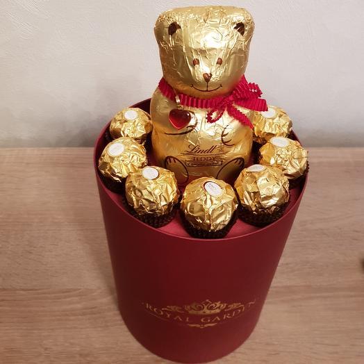 Роскошный сладкий подарок: букеты цветов на заказ Flowwow