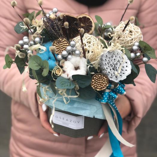 Изысканный букетик сухоцвет: букеты цветов на заказ Flowwow