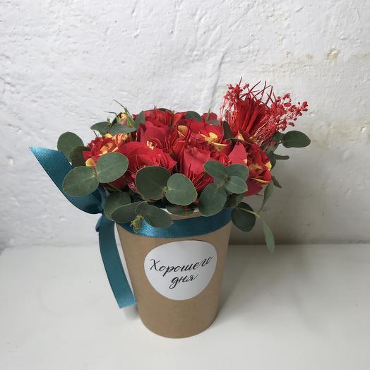Стаканчик «Хорошего дня»: букеты цветов на заказ Flowwow