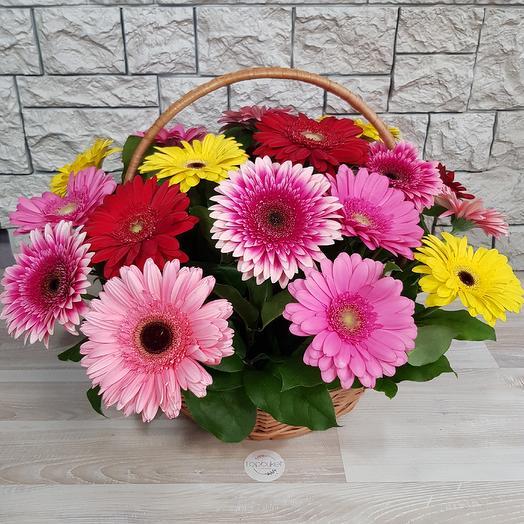 Цвет настроения в корзинке: букеты цветов на заказ Flowwow