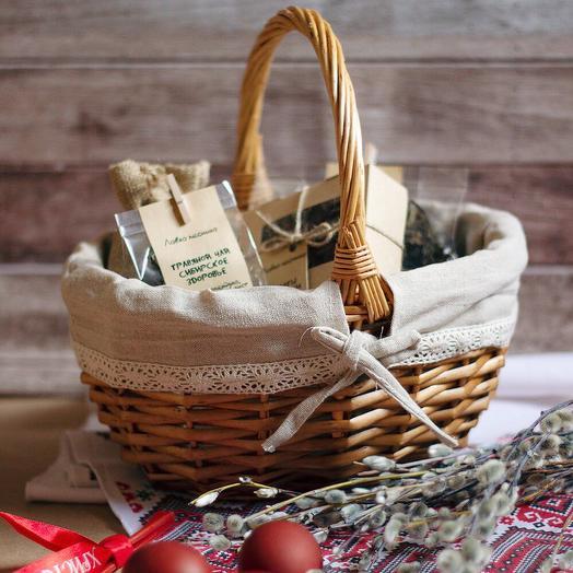 Подарочная корзина «Пасхальное чаепитие»: букеты цветов на заказ Flowwow