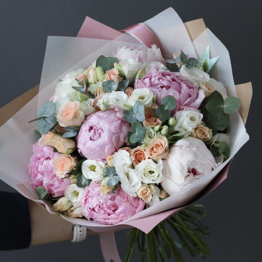 Летний букет с пионами: букеты цветов на заказ Flowwow