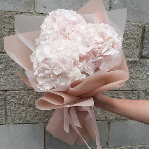 Букет из белой гортензии: букеты цветов на заказ Flowwow