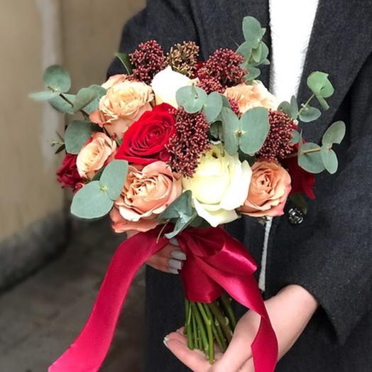 """Свадебный букет """"Осенняя роза"""": букеты цветов на заказ Flowwow"""