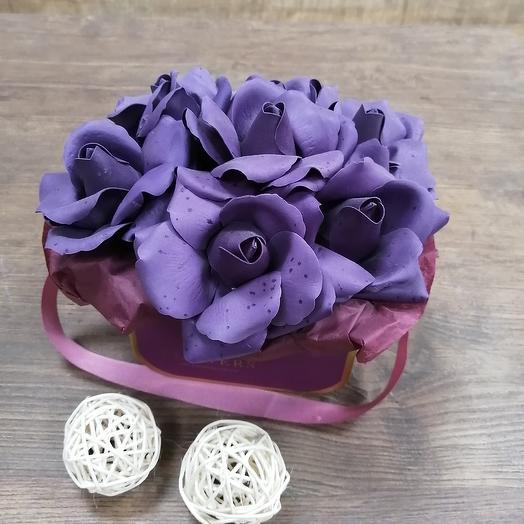 Коробочка из мыльной розы: букеты цветов на заказ Flowwow