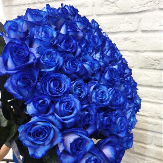 Синий иней: букеты цветов на заказ Flowwow