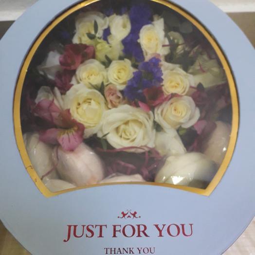 "Коробка с зефирками ""Just for you"": букеты цветов на заказ Flowwow"