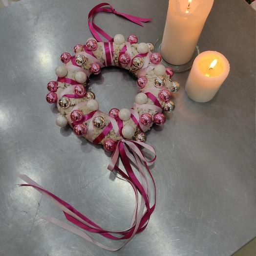 """Венок Новогодний """"Для Истинной Леди"""": букеты цветов на заказ Flowwow"""