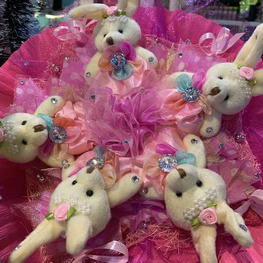 Милые зайчата: букеты цветов на заказ Flowwow