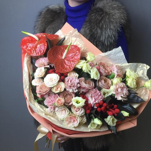 Огненная Лолла: букеты цветов на заказ Flowwow