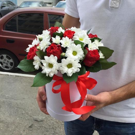 Милая коробочка с цветами