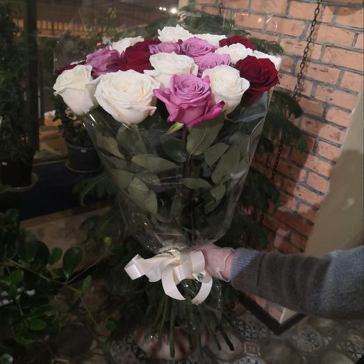 Букет розовый микс
