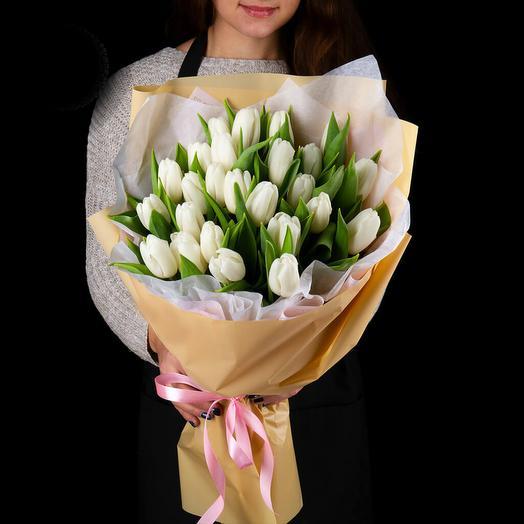 Букет белых тюльпанов 5: букеты цветов на заказ Flowwow