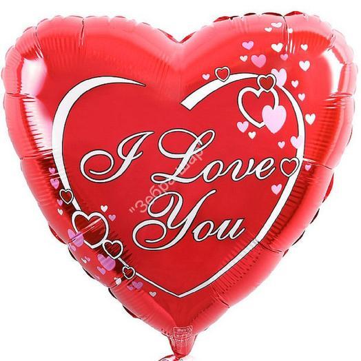Шар фольгированный сердце LOVE