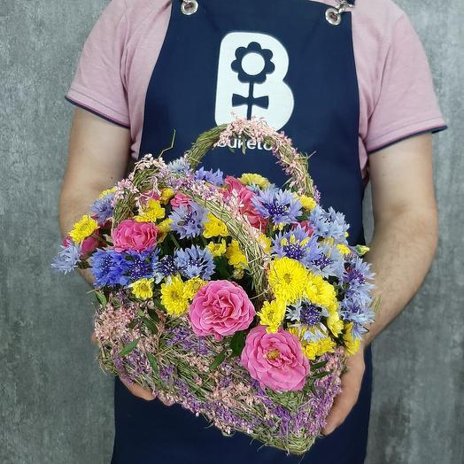 Васильки в сумочке: букеты цветов на заказ Flowwow