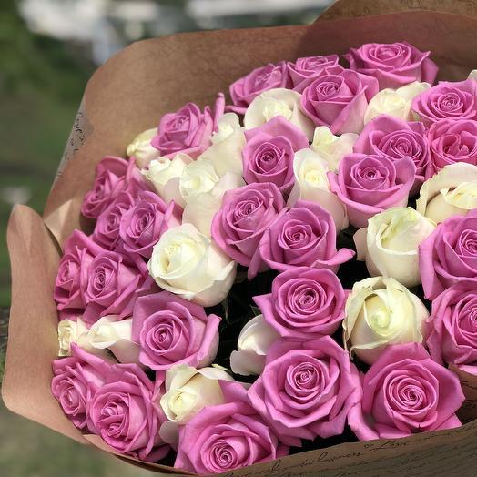 51 Роза Love Микс