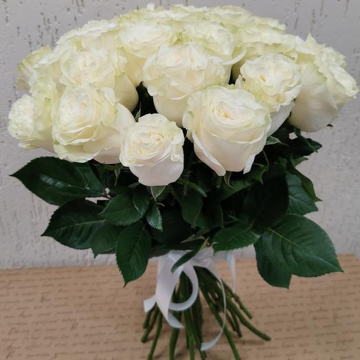 """Букет из 25 роз """"Эквадор Мондиаль 50см"""""""