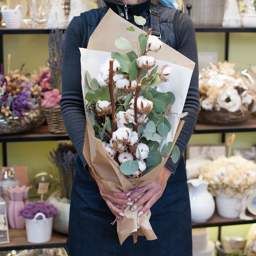 Букет цветов Хлопок