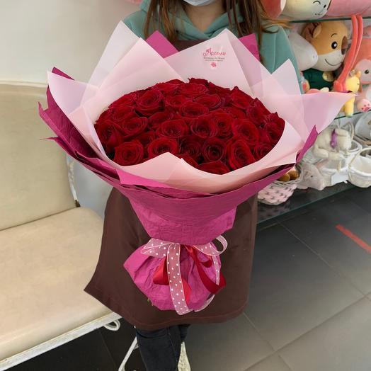 Букет из 45 красных роз
