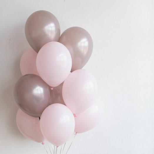 """Связка воздушных шаров""""розовый-жемчуг"""""""