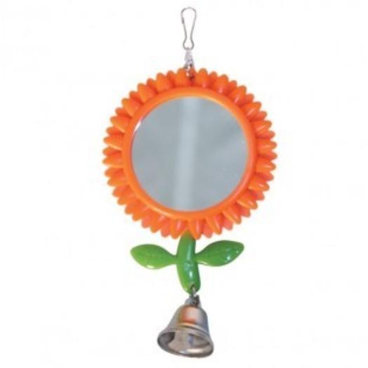 "Triol игрушка для птиц - зеркало ""Подсолнух"", 80*175мм"