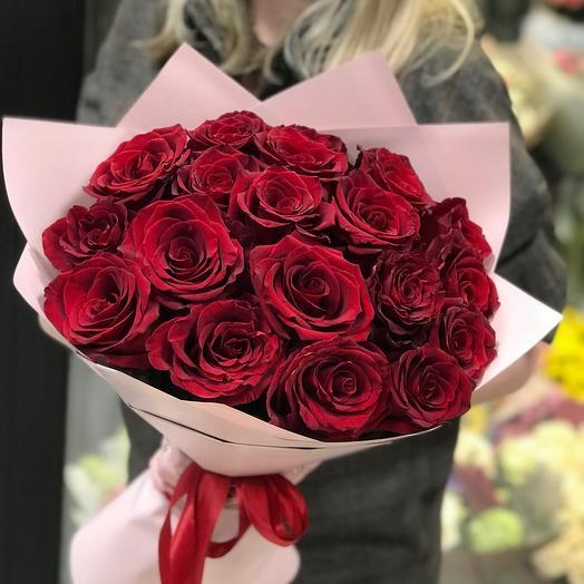 Монобукет 15 роз