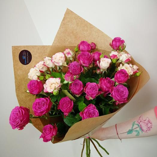 Микс кустовых пионовидных роз