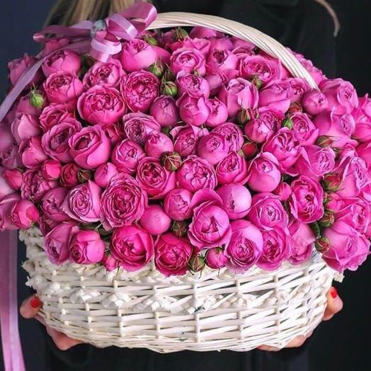 Корзина пионовидных роз!💖🙌🏻🌸🙏🏻💝