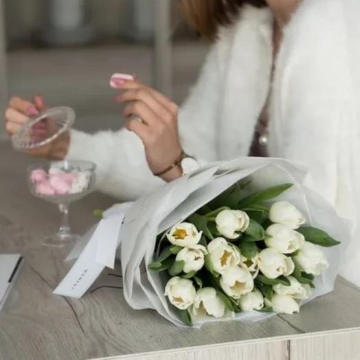 Голландские тюльпаны White 15