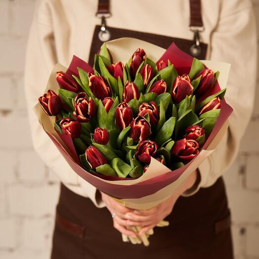 25 тюльпанов в гамме JUNGLE
