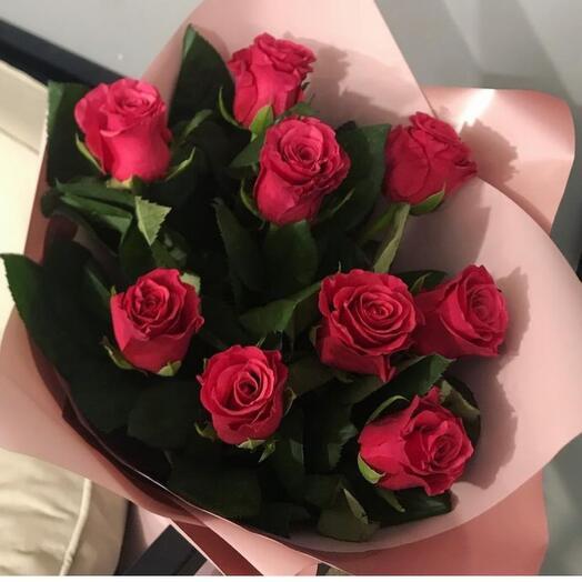 9 красных роз Кения