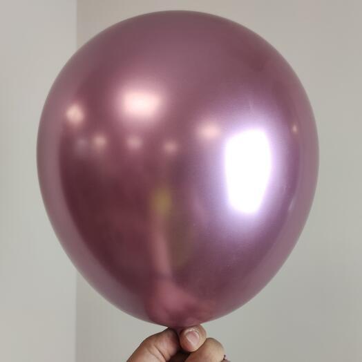 Воздушный шар /Хром Сатин фламинго