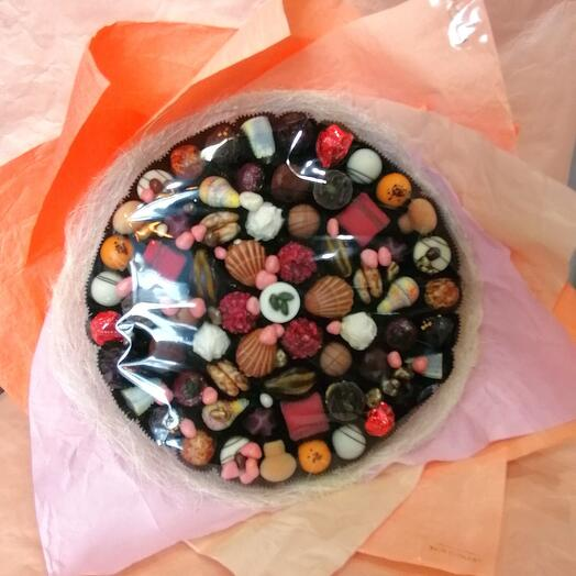 Букет из конфет ручной работы FRENCH KISS SPB 010604