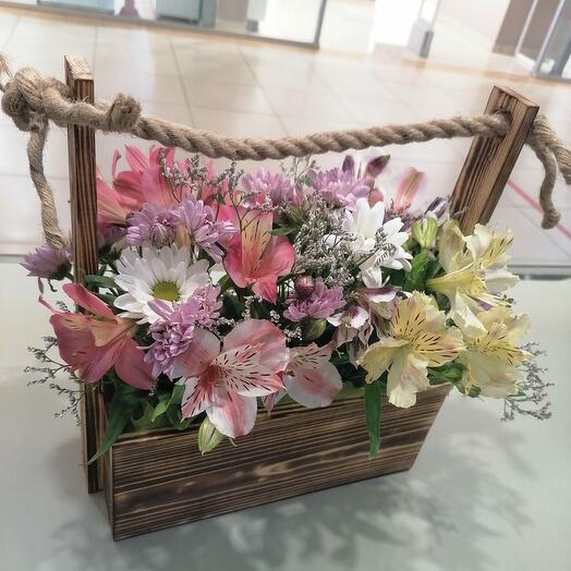 Корзина с цветами (ф)