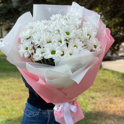 Букет из кустовых хризантем Бакарди
