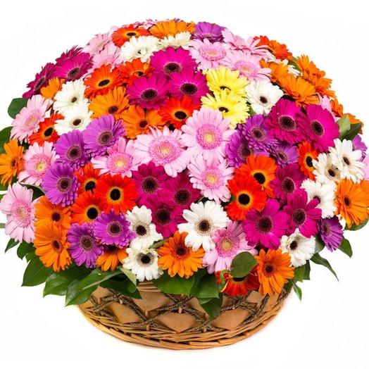Корзинища из герберищ!: букеты цветов на заказ Flowwow