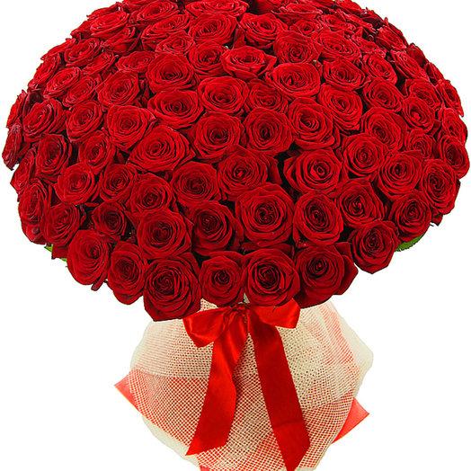 101 красная роза (70 см) (S4030)