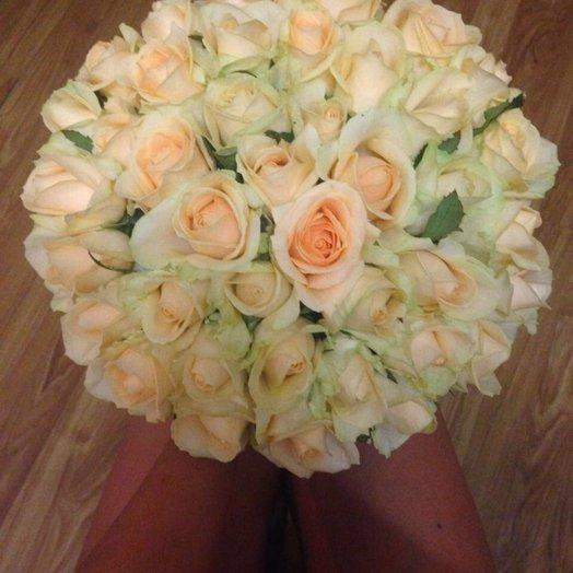 Букет из чайных роз - 41 шт: букеты цветов на заказ Flowwow