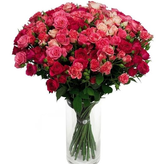 БЦ-169182 Любимые розочки: букеты цветов на заказ Flowwow
