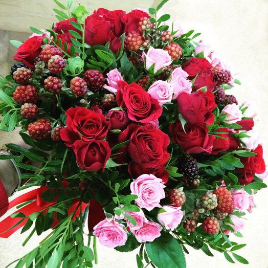 Розовая Ягода: букеты цветов на заказ Flowwow