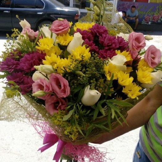 Букет-микс Люкс: букеты цветов на заказ Flowwow