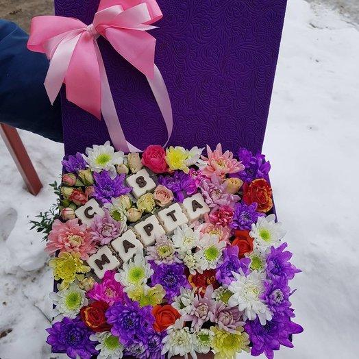 Коробочка к 8 марта: букеты цветов на заказ Flowwow