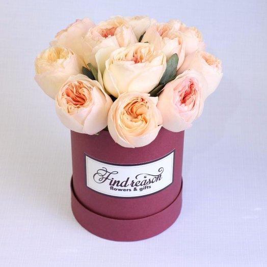 """Шляпная коробка """"Моя любовь"""": букеты цветов на заказ Flowwow"""
