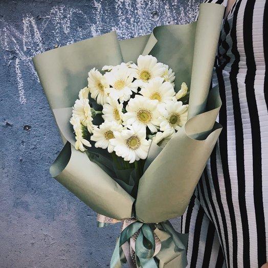 Букет из мини-герберы: букеты цветов на заказ Flowwow