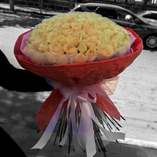 Букет из 101-ой розы