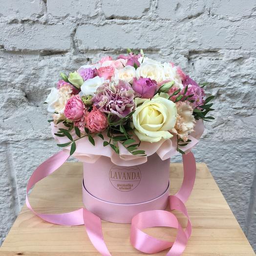 """Шляпная Коробка """"Розовый десерт"""""""