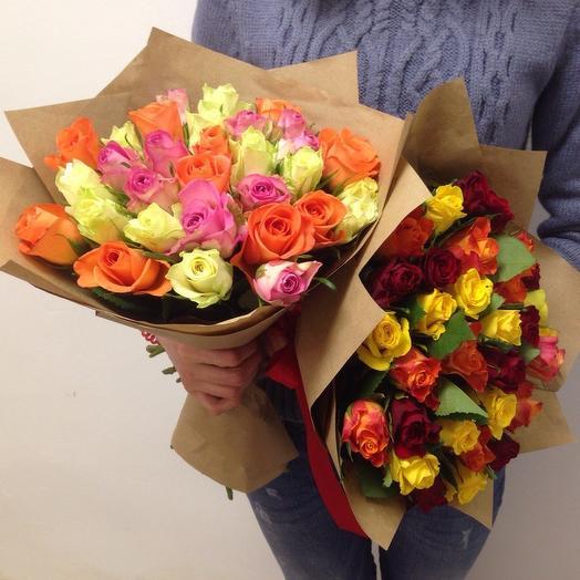 31 роза микс кения: букеты цветов на заказ Flowwow