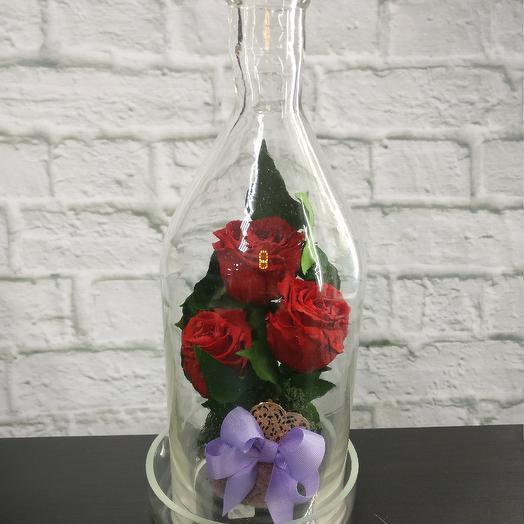 Стабилизированная композиция в колбе: букеты цветов на заказ Flowwow