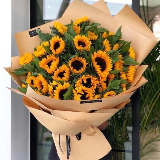 Букет Подсолнух: букеты цветов на заказ Flowwow