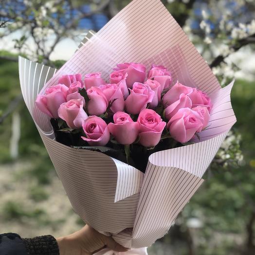 Букет из 17 роз: букеты цветов на заказ Flowwow